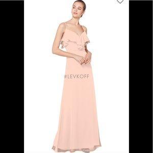 Bill Levkoff petal pink bridesmaid dress 7075